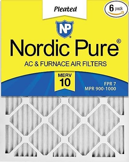 Nordic Pure 20x24x1 MERV 11 Tru Mini Pleat AC Furnace Air Filters 20-Inch x 24-Inch x 1-Inch 12 Pack