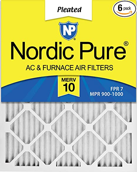 12 Pack 14 x 25 x 1 Piece 12 Pack 14 x 25 x 1 Nordic Pure 14x25x1 MERV 10 Pleated Plus Carbon AC Furnace Air Filters