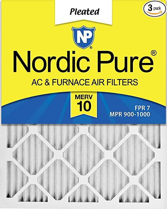 Nordic Pure 12x30x1 MPR 1085 Pleated Micro Allergen Extra Reduction Replacement AC Furnace Air Filters 1 Pack