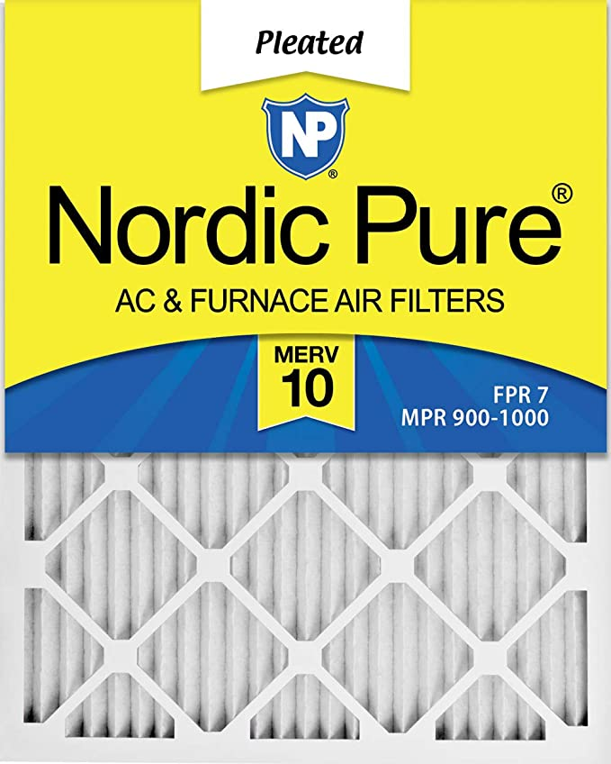 Nordic Pure 20x22x1 MERV 12 Pleated AC Furnace Air Filters 3 Pack