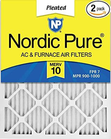 Nordic Pure 18x36x1 MPR 1900 Healthy Living Maximum Allergen Reduction Replacement AC Furnace Air Filters 2 Pack