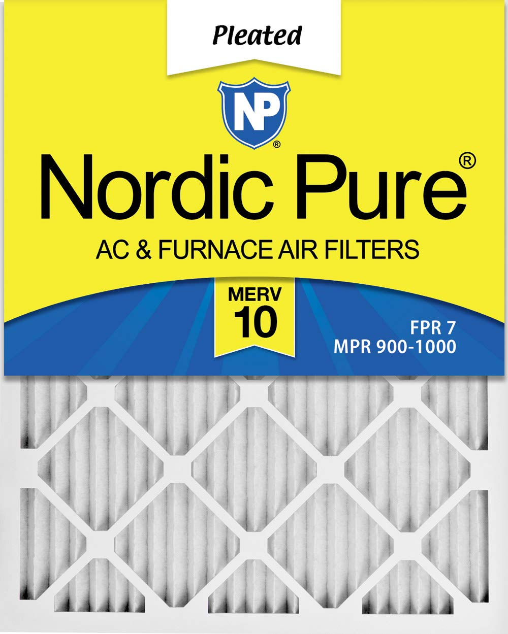 Nordic Pure 14x18x1 Exact MERV 10 Pleated AC Furnace Air Filters 3 Pack