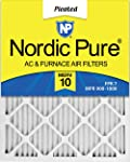 2. Nordic Pure 16x20x1 MERV 10 Pleated AC Furnace Air Filter, Box of 6
