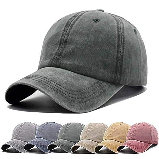 d5f050d021b83 Men Women Baseball-Cap Unisex Washed Distressed Baseball Hats Vintage Twill  Adjustable Dad-Hat
