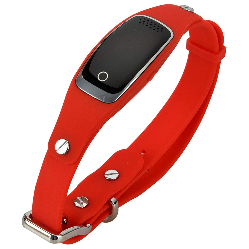 Red M3M GPS Collar Dog GSM GPRS Tracker Device Waterproof Long Standby Pet Cat Animal Real Time Voice Monitor Tracking Locator,Red