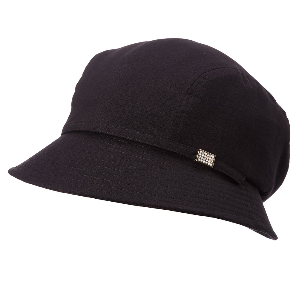 SIGGI Bucket Boonie Cord Brim Cap Fishing Hiking Sun Hats for Women SPF50+ Packable Black