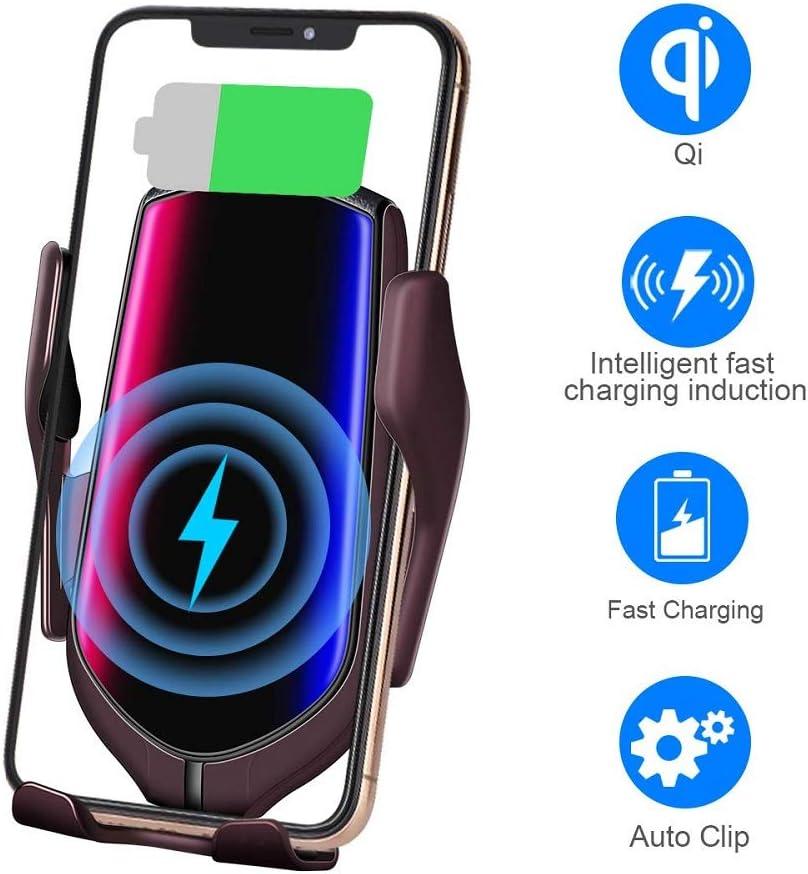 Moore883MaurCargador Inalámbrico R2 sensor de infrarrojos soporte para teléfono del coche 10 w cargador inalámbrico de carga rápida
