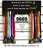 Eat a Mango Creations Sports Medal Bib,Photo,Display Rack N4226 Reach for The Moon,Running