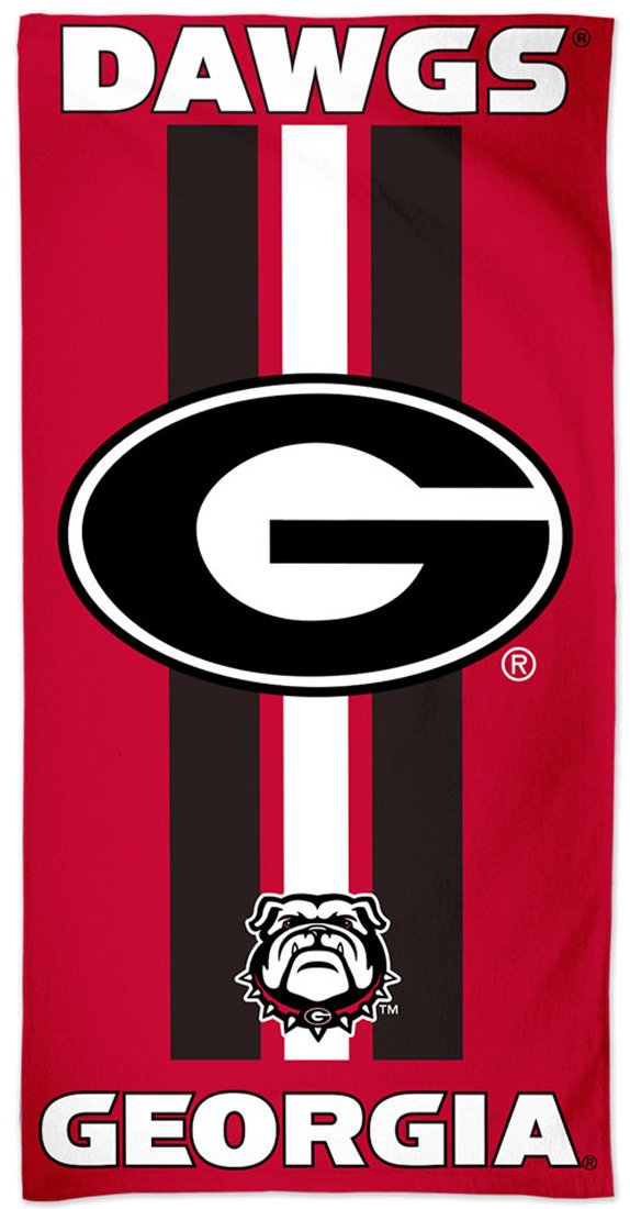WinCraft Georgia Bulldogs Fiber Beach Towel, Game Day Stripes Edition, 30 x 60 inches