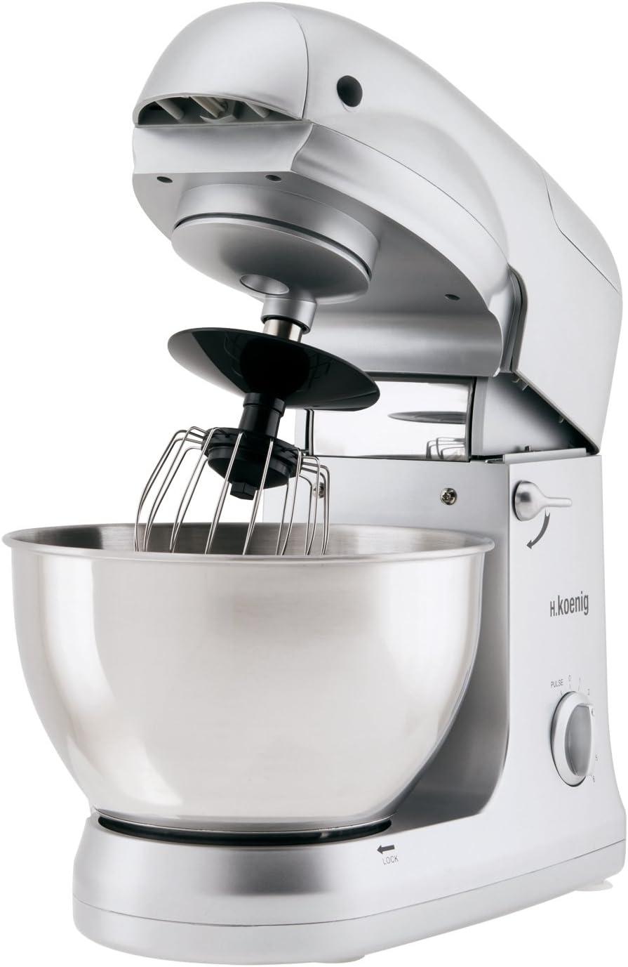 H.Koenig KM 68 Robot de cocina multifunción, 1000 W, 5 l, acero inoxidable, Plateado: Amazon.es: Hogar