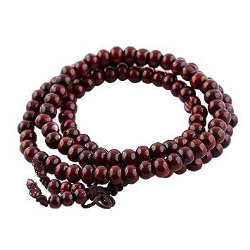 Yoga 6 mm joya de rosario de collar con colgante en forma ...