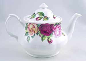 Roy Kirkham - English Fine Bone China Teapot - Garden Rose - England