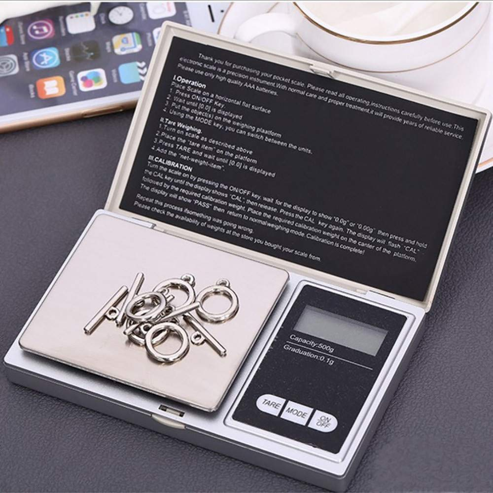 Iskylie Electronic Smart Scale 100g/0.01g LCD Digital Pocket Scale Jewelry Gold Gram Balance Weight Scale (C) by Iskylie (Image #2)