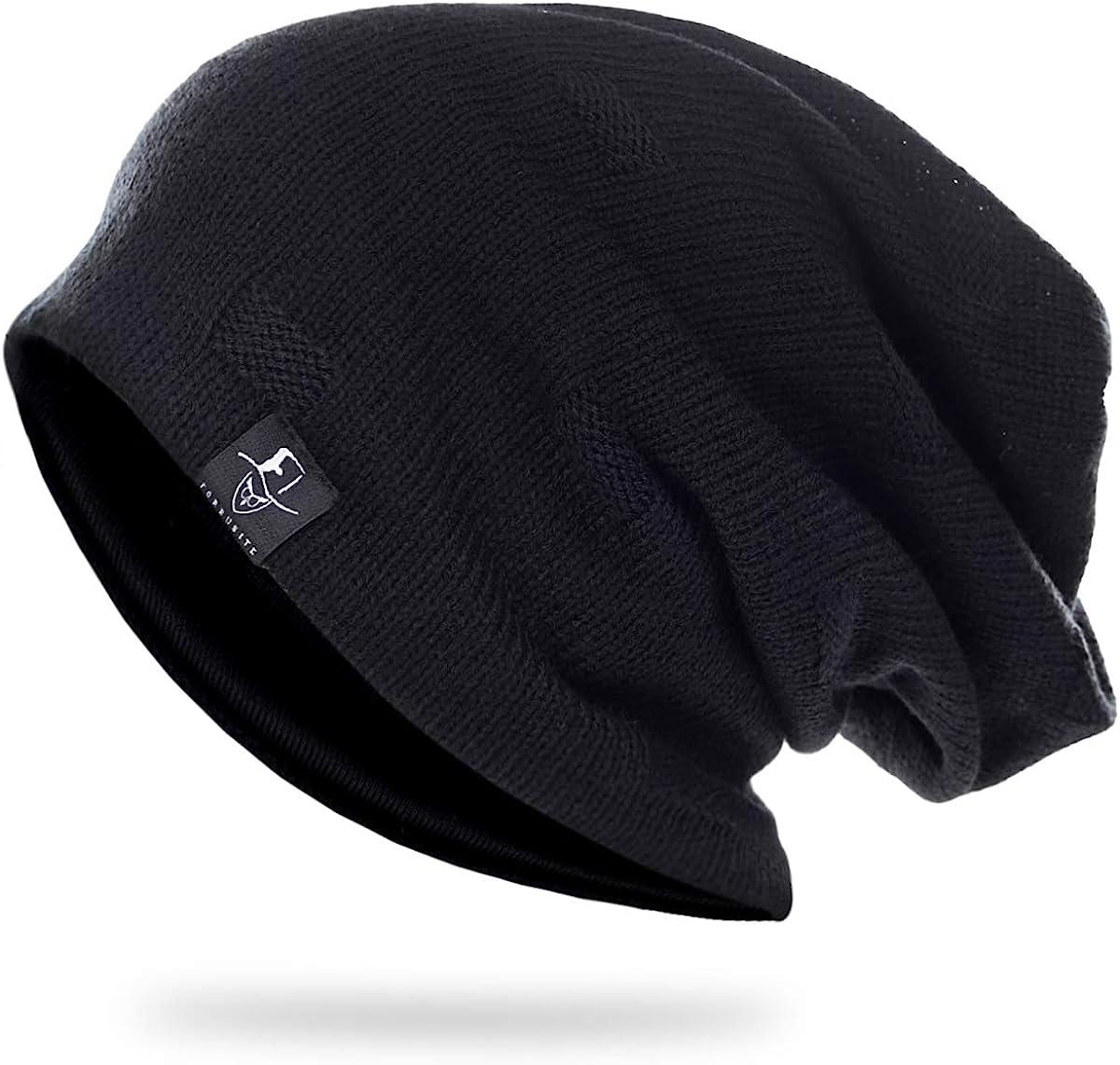 SHADIAO Mens Baggy Beanie Slouchy Oversized Beanie for Men//Women Summer Winter Knit Cap B754