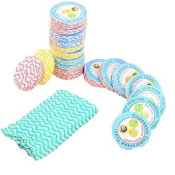 10 pcs desechables Mini comprimido toallas de algodón para el hogar salón de belleza viaje deportes