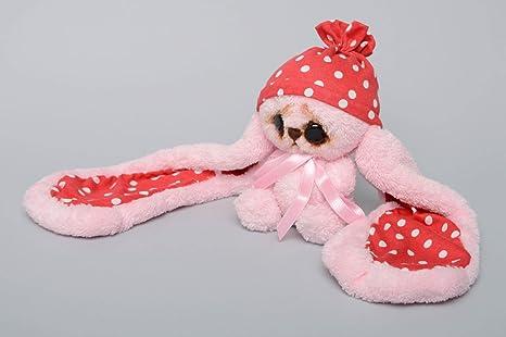 Juguete de peluche Liebre de orejas largas rosada
