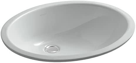 KOHLER K 2210 95 Caxton Undercounter Bathroom Sink, Ice Grey