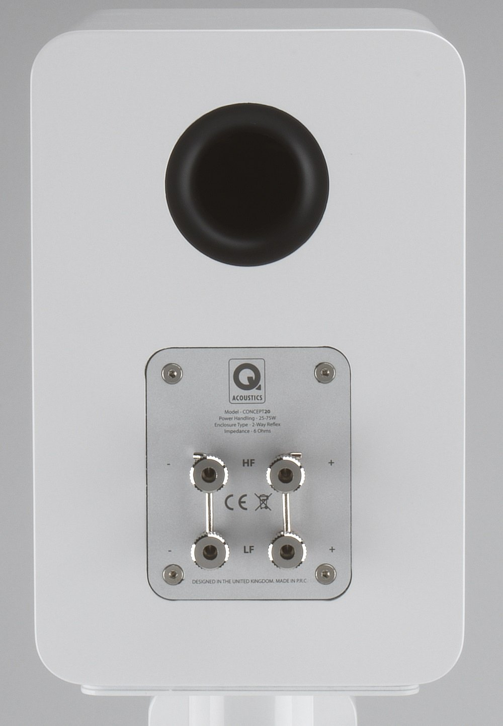 Q Acoustics Concept 20 Bookshelf Speakers (Pair) (Gloss White)