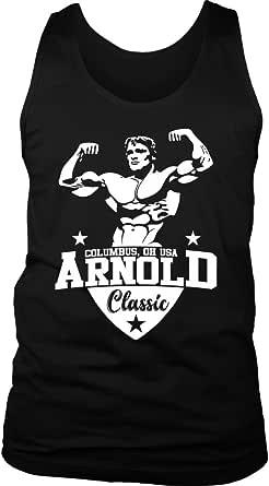 Arnold tank gym singlet stringer fitness wear echt strong goku strong lift golds