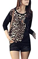 Womens Long Sleeve Leopard Print Casual T-Shirts Tops Casual Blouse