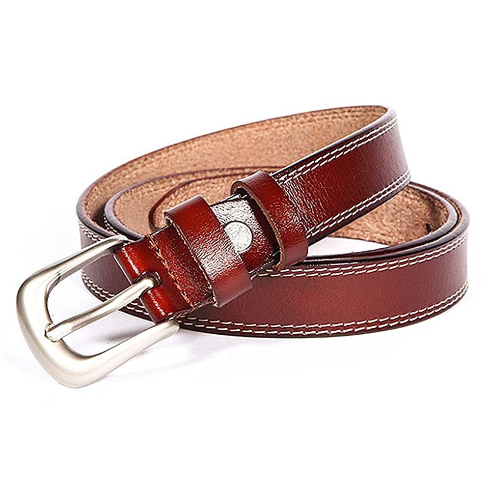 Women's Real Leather Small Belt 1inch Wide Jeans Waist Straps For Women