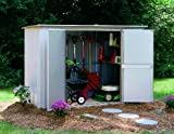 Arrow GS83 Pent Roof Garden Shed, 8' x 3', Eggsheel/Taupe