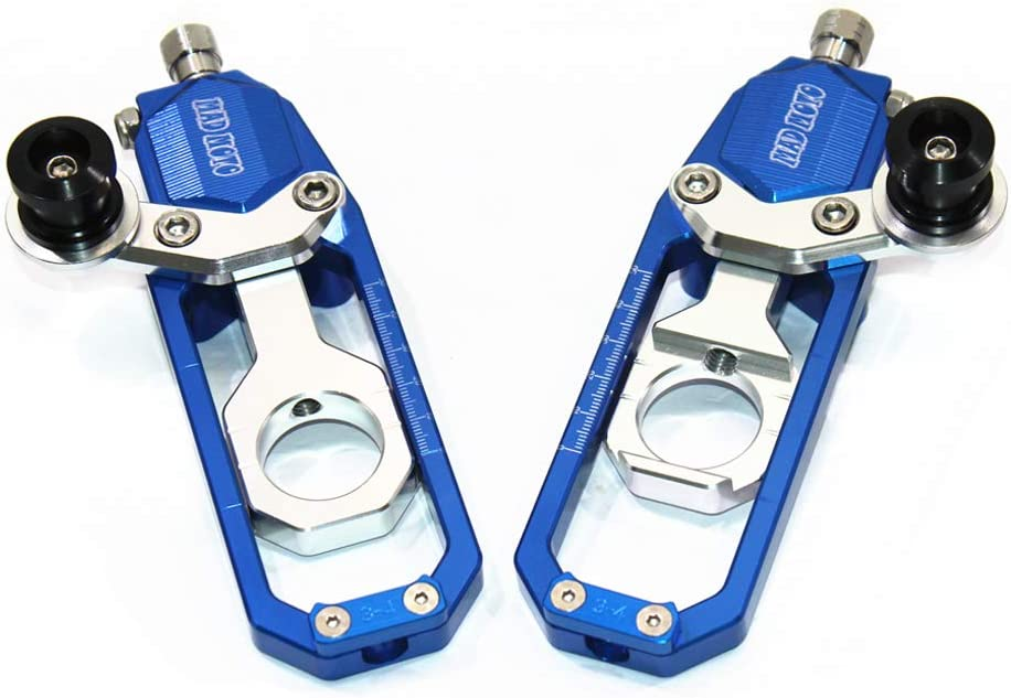 for SUZUKI GSXR600//750 2006-2014, Blue Motorcycle Chain Tensioner Adjuster with Spool