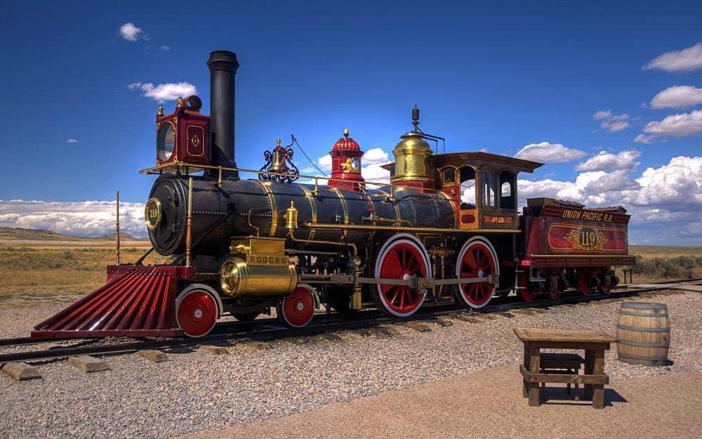 Decorsy Rompecabezas Puzzle 1000 Piezas Adultos Locomotora A Vapor Tren Ferrocarril Colección Moderna De Decoración Del Hogar