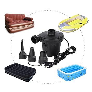Bomba de aire eléctrica rápida para asientos, botes, camas de invitados, colchones de aire 150 W/220 – 240 V, TYPE-2