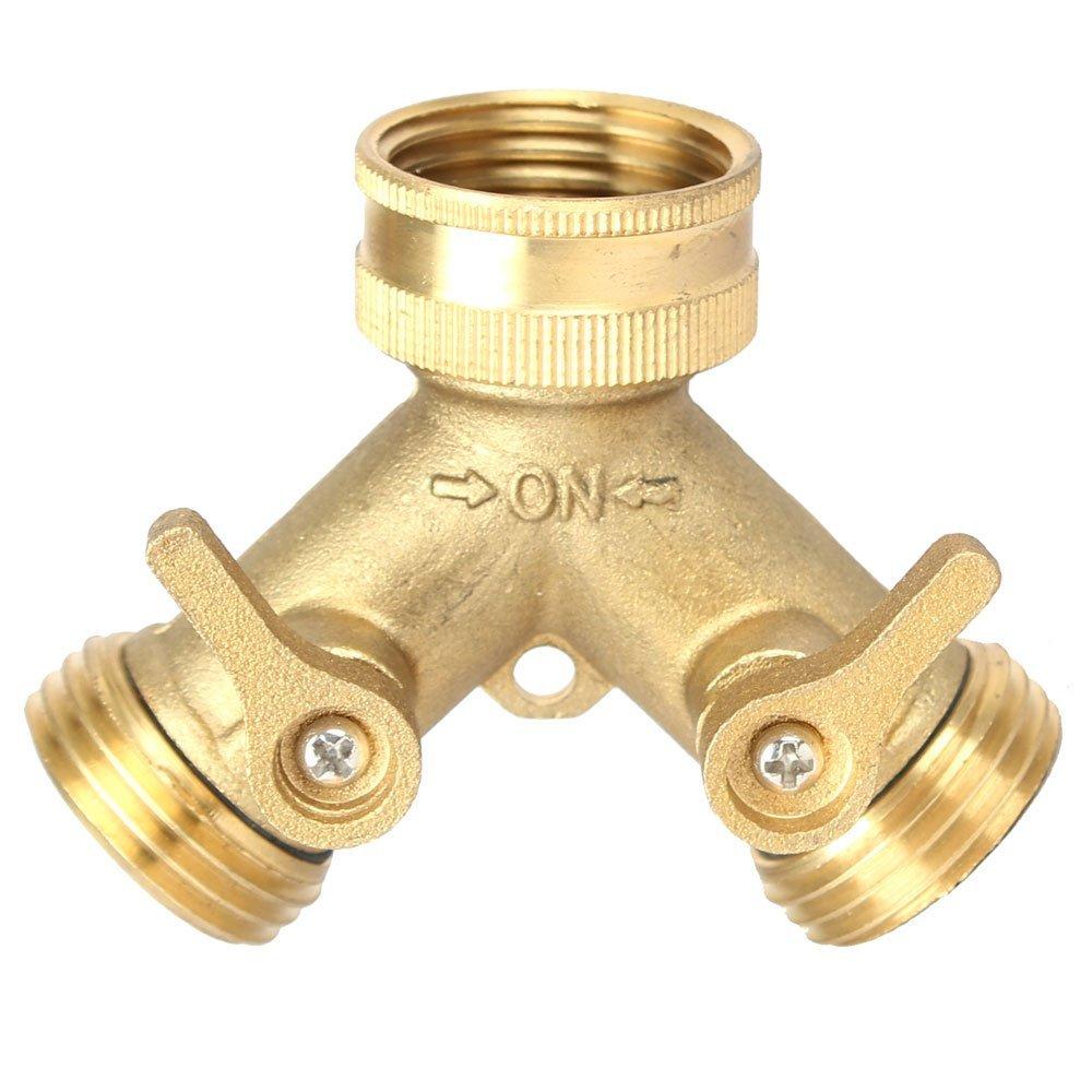 Harmony Lead Free Garden Hose Connector (Lead Free Brass Hose Y 2 Way  Splitter)