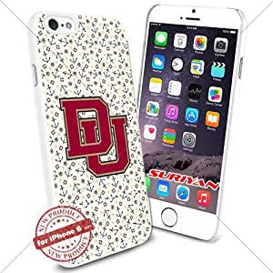 New iPhone 6 Case Denver Pioneers Logo NCAA #1102 White Smartphone Case Cover Collector TPU Rubber [Anchor]