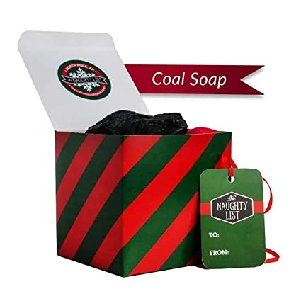 Lump Of Coal For Christmas.The Naughty List Lump Of Coal Soap Charcoal Soap Novelty Bath And Body Soap Naughty Christmas Holiday Stocking Stuffer Gift From Santa Traditional
