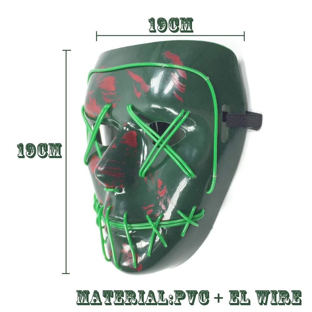 Amazon.com: BESTZY Halloween Face Mask, Light Up Funny Masks ...