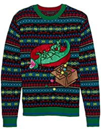 Men's Roflsaurus Rex Crew Neck Ugly Xmas