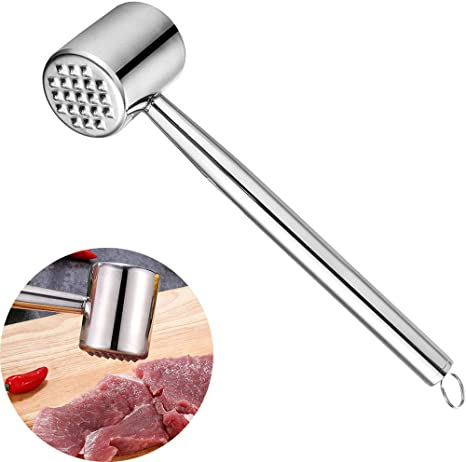 Amazon Com Textured Meat Tenderizer Heavy Duty Food Hammer Mallet Tool Steak Hammer Cooking Hammerchicken Dishwasher Safe Kitchen Dining