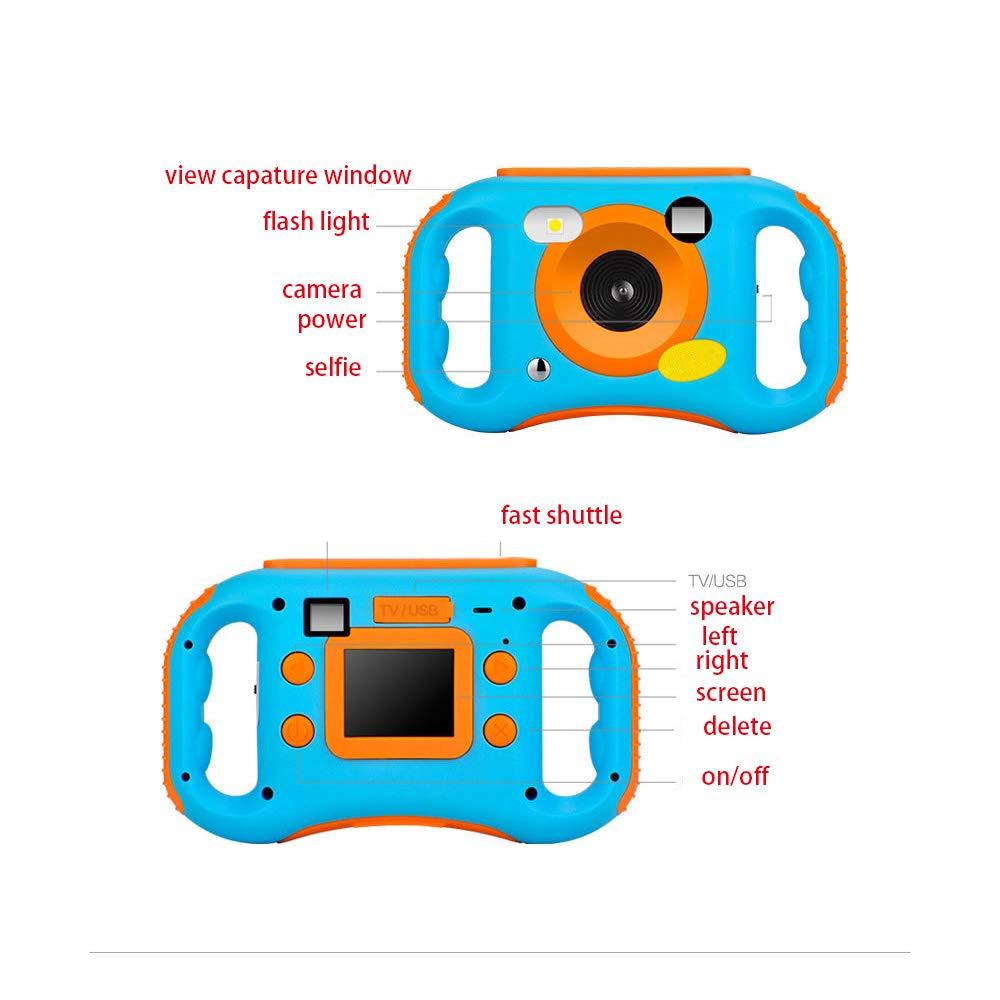 Ybriefbag Children's Camera CamKing Children's Camera 1.77 Inch Screen Mini Digital Camera Kids Mini Digital Camera (Color : Pink) by Ybriefbag (Image #5)