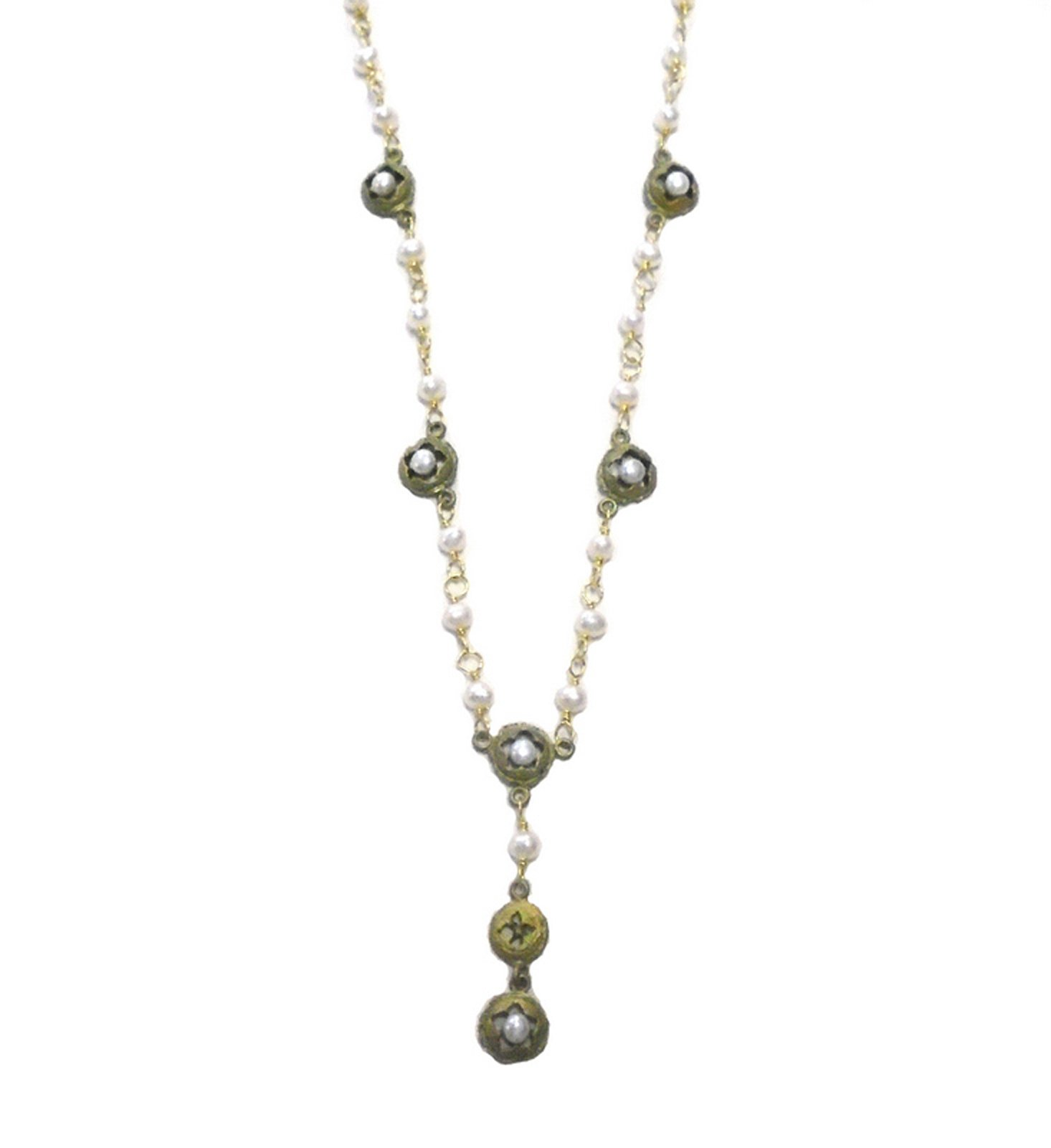 ''Eucalyptus & Pearls'' Necklace By Michael Michaud for Silver Seasons- Ours Exclusively