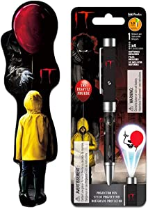 """Stephen King It Pen and Bookmark Set ~ Stephen King's""""It"""" Projector Pen Featuring Pennywise with Bookmark (Stephen King It Office Supplies, Merchandise)"""