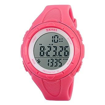 muchachos de la muchacha linda reloj podómetro reloj digital ...