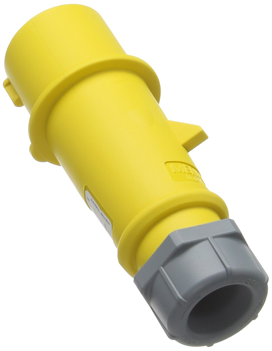 16 A Current Yellow MENNEKES 247 AMV-TOP Single Part Body Plug IP 44 Protection 3 Pole 4 hours Earth Position 110V