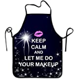 Lily's Rossne Apron for Women and Men, Makeup Keep Calm for Chef Kitchen Cooking Aprons BBQ Bib Apron Great Gift - Accept Customized Apron