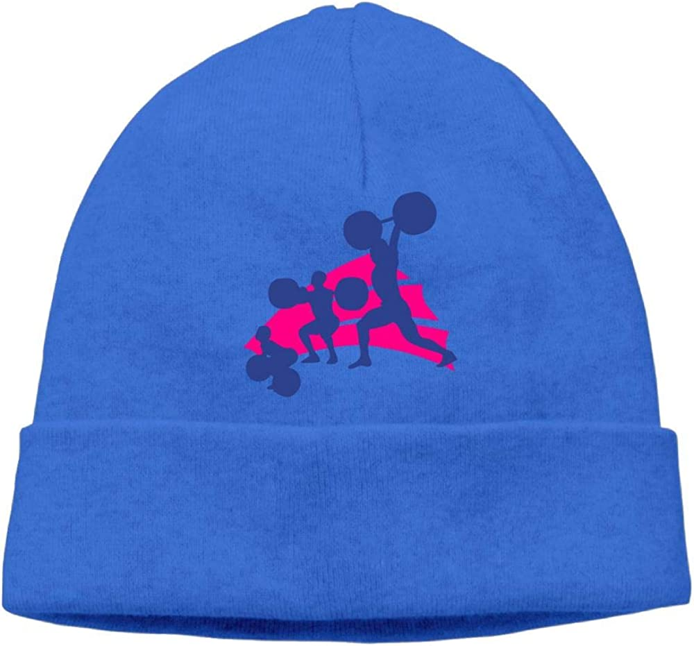 Oopp Jfhg Beanie Knit Hat Ski Cap Funny Evolution Weightlifting Men