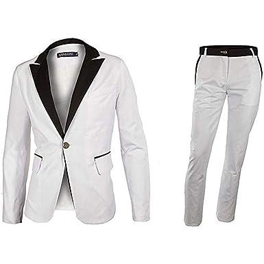 LANBAOSI - Conjunto de Chaqueta y Pantalones de Vestir para ...