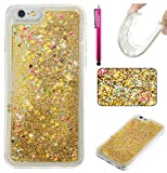 "iPhone 6 Plus/6S Plus Case, Firefish Slim Shock Absorption Slim Bumper Cover Anti-Slip Soft Silicone Protective Skin for Girls Children Fits for Apple iPhone 6 Plus / 6S Plus 5.5"" -Golden"