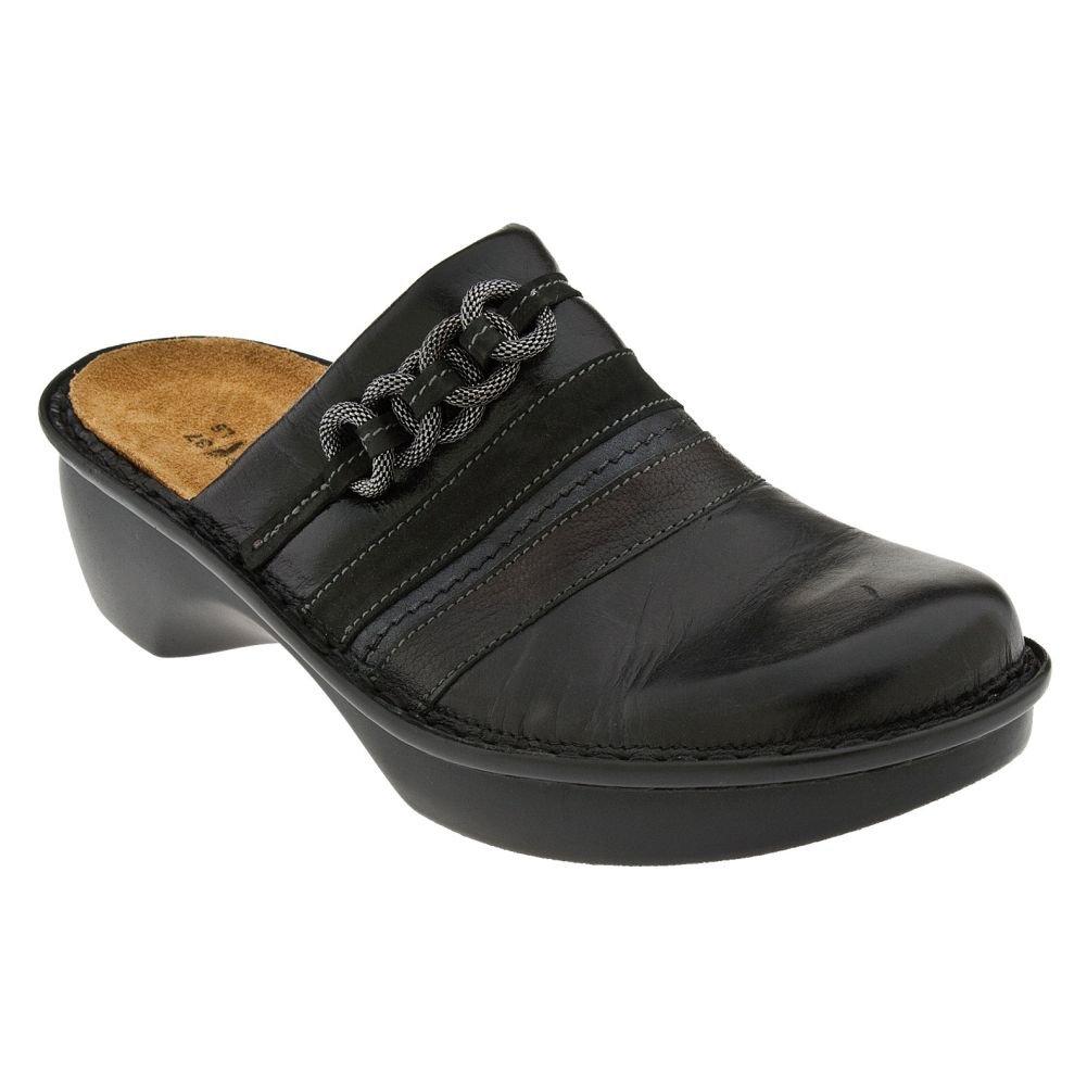 Naot Women's Belize Wedge Pump, Black Madras Leather/Caviar Leather/Armor Leather/Black Velvet Nubuck, 36 EU/5-5.5 M US by NAOT (Image #1)