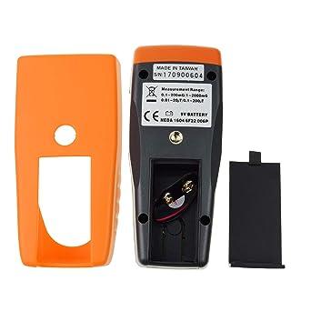 EMF ELF Magnético Campo Metro Electromagnético Detector Micro-Tesla/Milli-Gauss 30Hz ~ 300Hz Frecuencia Gauss Ensayador: Amazon.es: Industria, ...