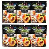 Wild & Raw Sun-dried Organic Turkish Apricots 5 Oz Good Source of Fiber Zero Trans Fat No Added Sugar Cholesterol Free Unsulphured (6 Pack)