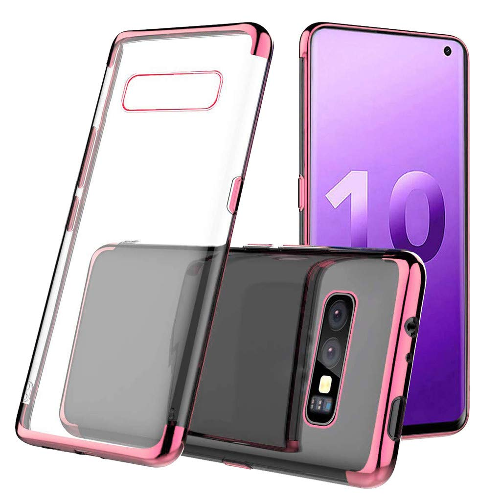 Waterproof-Case-with-Built- Screen-Protector,For Samsung-S10e -5.6inch-Clear-Case,Shock-proof-Protective-TPU-Gel Cover (Rose Gold)