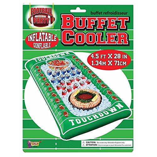 - Forum Novelties Football Inflatable Buffet Cooler, Multi-Color
