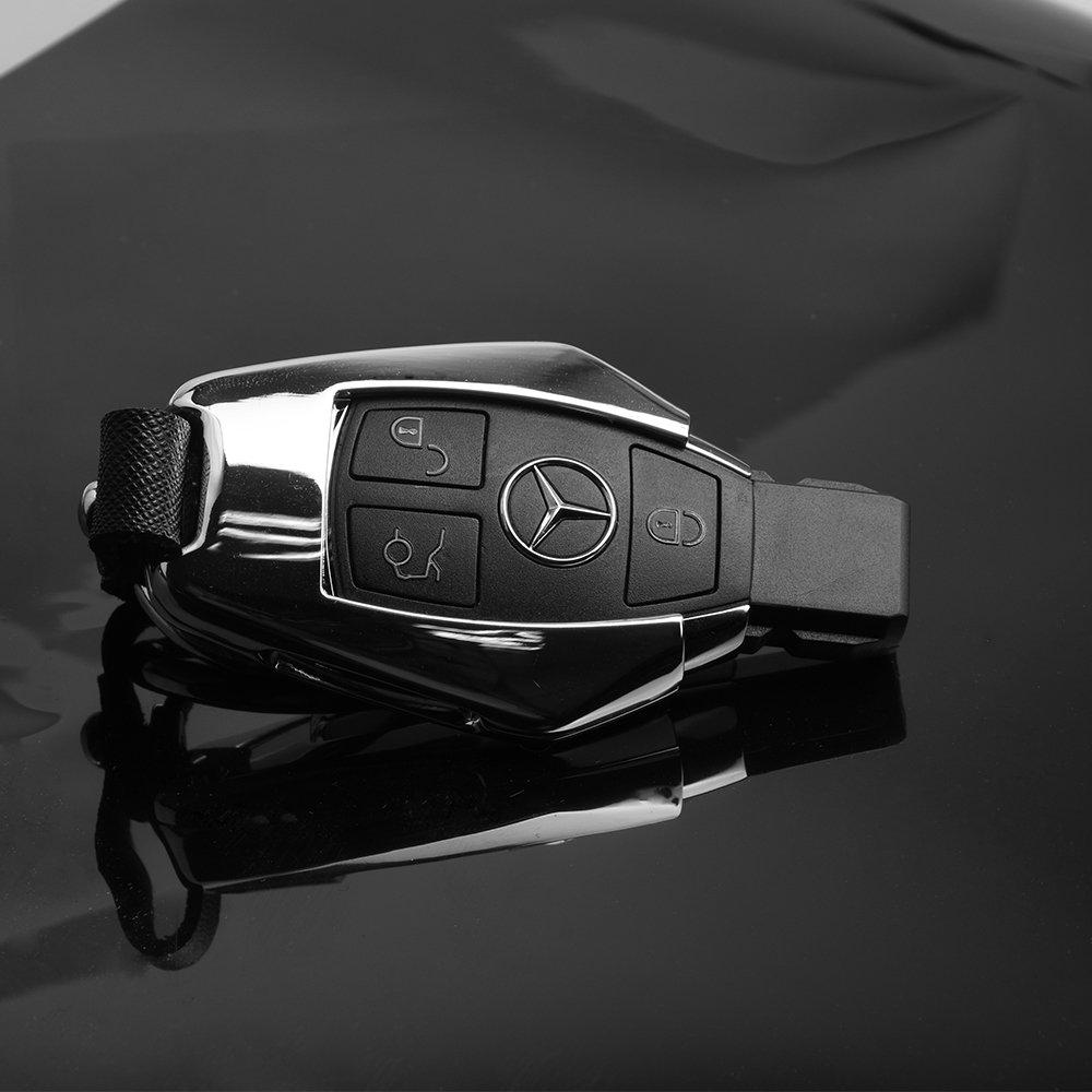 Amazon.com: Mercedes Benz Llavero cubierta Metal, Plateado ...